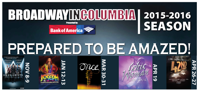 Broadway In Columbia Season 2015/2016