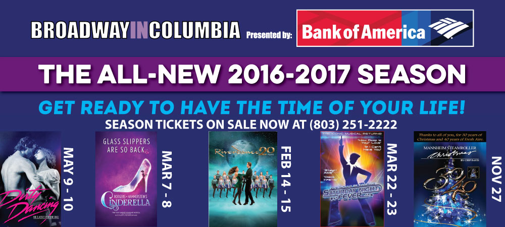 Broadway in Columbia 2016/17 Season