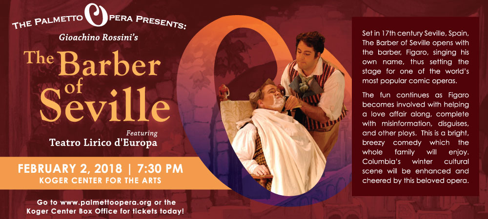 Palmetto Opera presents Barber of Seville