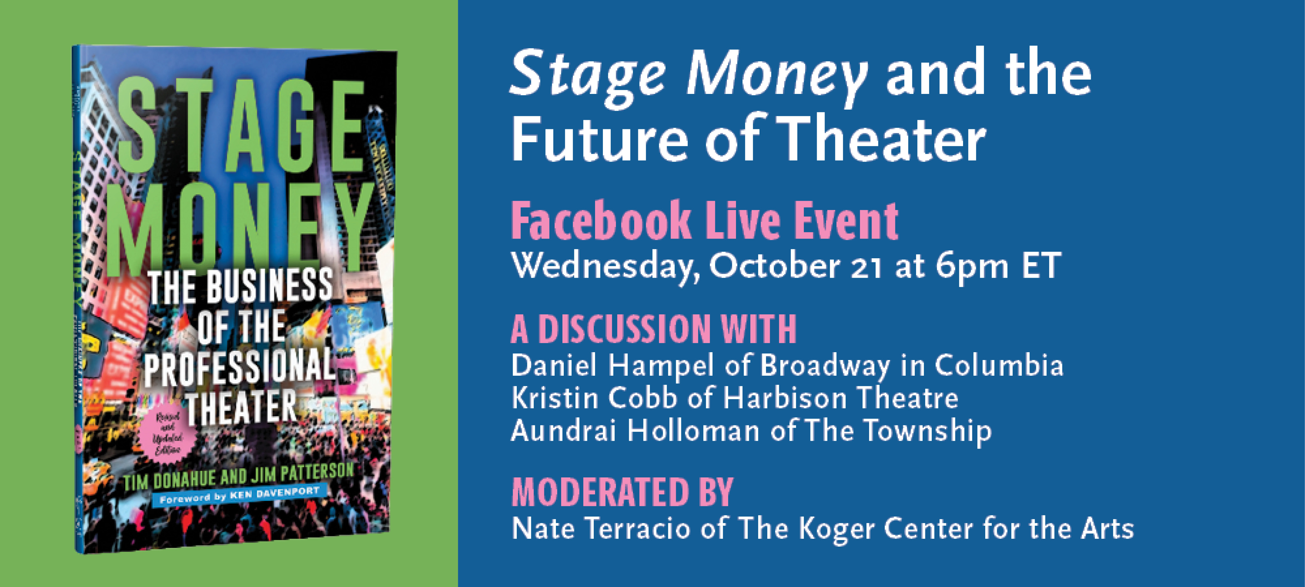 Stage Money and the Future of Theater - A Facebook Live Event